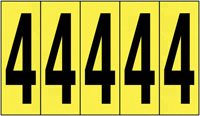 127x44mm Vinyl Cloth Numbers Card 4
