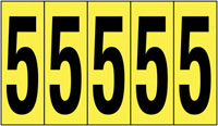 127x44mm Vinyl Cloth Numbers Card 5