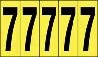 127x44mm Vinyl Cloth Numbers Card 7