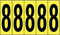 127x44mm Vinyl Cloth Numbers Card 8