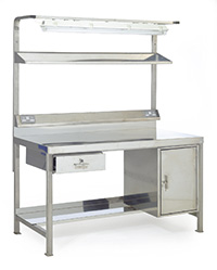 Stainless Steel Preparation Workbenches - Support Rails - St Steel