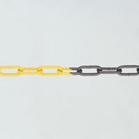Galvanised Steel Chain - 5m Red   White