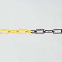 Galvanised Steel Chain - 15m Black   Yellow