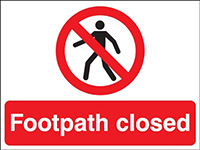 Thumbnail 450x600mm Footpath closed stanchion sign