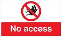 450x600mm No access stanchion sign