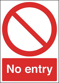 No Entry Relective sign 300x250mm Reflective Safety Sign