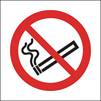 No Smoking Symbol Only  Only 50x50mm Self Adhesive Vinyl Safety Sign