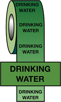 50mmx33m Drinking Water BS Pipeline Marking   Identification Tape