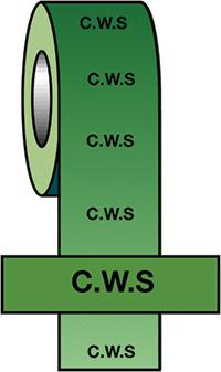 50mmx33m C.W.S BS Pipeline Marking   Identification Tape