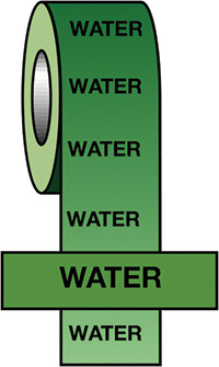 50mmx33m Water BS Pipeline Marking   Identification Tape