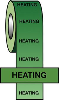 50mmx33m Heating BS Pipeline Marking   Identification Tape