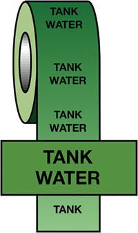 50mmx33m Tank Water BS Pipeline Marking   Identification Tape