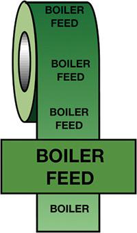 50mmx33m Boiler Feed BS Pipeline Marking   Identification Tape