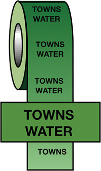 50mmx33m Towns Water BS Pipeline Marking   Identification Tape