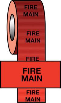 50mmx33m Fire Main BS Pipeline Marking   Identification Tape