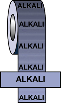 50mmx33m Alkali BS Pipeline Marking   Identification Tape
