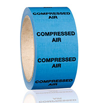 50mmx33m Compressed Air BS Pipeline Marking   Identification Tape