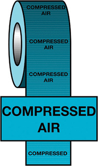 150mmx33m Compressed Air BS Pipeline Marking   Identification Tape