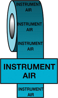 50mmx33m Instrument Air BS Pipeline Marking   Identification Tape