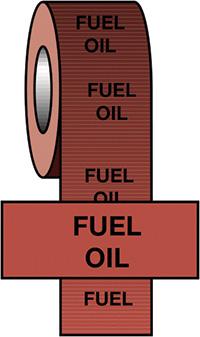 50mmx33m Fuel Oil BS Pipeline Marking   Identification Tape
