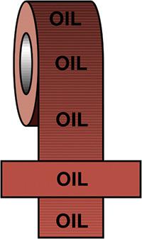 50mmx33m Oil BS Pipeline Marking   Identification Tape