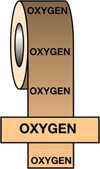 50mmx33m Oxygen BS Pipeline Marking   Identification Tape
