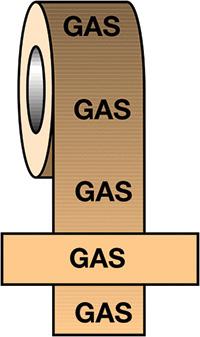 50mmx33m Gas BS Pipeline Marking   Identification Tape