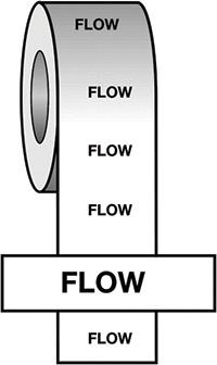 50mmx33m Flow BS Pipeline Marking   Identification Tape