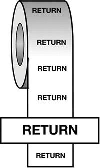 50mmx33m Return BS Pipeline Marking   Identification Tape