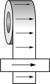 50mmx33m Arrow Right BS Pipeline Marking   Identification Tape