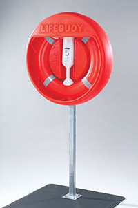 Post Mounted  surface mounted Housing to Fit 30  Lifebuoy