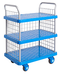 Proplaz Super Silent Three Tier Trolley With Mesh Ends and Side
