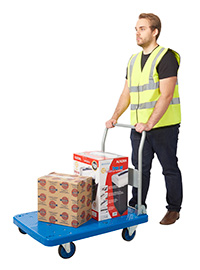 Proplaz Blue  Platform Trolley - 300kg Load Capacity