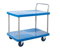 Proplaz Blue  Platform Trolley - Two Tier Trolley