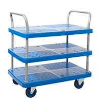 Proplaz Blue  Platform Trolley - Three Tier Trolley