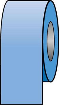 150mmx33m Light Blue Pipeline Tape