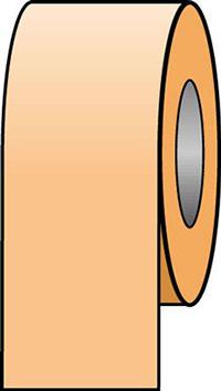 150mmx33m Orange Pipeline Tape