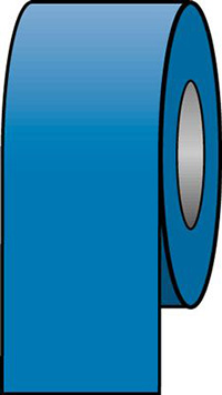 100mmx33m Auxiliary Blue Pipeline Tape