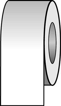 100mmx33m White Pipeline Tape