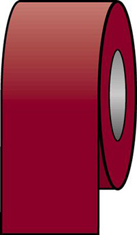 100mmx33m Crimson Pipeline Tape