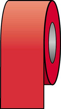 100mmx33m Red Pipeline Tape