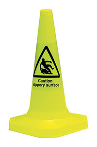 Caution Slippery Surface Pedestrian Warning Cones