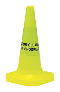 Floor Cleaning in Progess Pedestrian Warning Cones