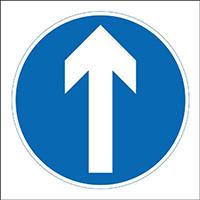 450x450mm Diagonal Arrow up traffic sign