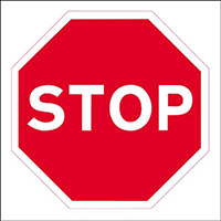 450x450mm Stop traffic sign