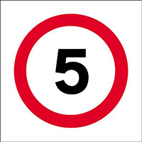 Thumbnail 450x450mm 5mph traffic sign