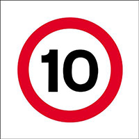 Thumbnail 450x450mm 10mph traffic sign