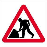 450x450mm Men at work traffic sign