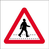 450x450mm Pedestrian crossing traffic sign