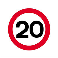 450x450mm 20mph traffic sign